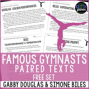 FREE informational texts about famous Olympic athletes who are outstanding role models for your students!