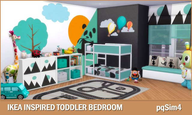 pqSim4: Ikea Inspired Toddler Bedroom. Sims 4 Custom Conte...