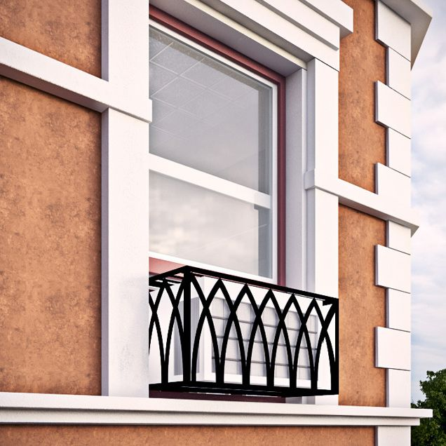 Arch Iron Air Conditioning Cover Window Guard Window Air