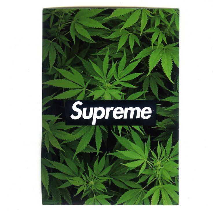 #1472 Supreme Weed Marijuana , Height 10 cm decal sticker ...  |Supreme Marijuana Backgrounds