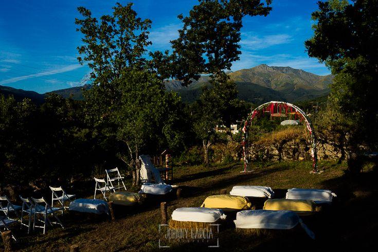 Detalle del lugar de celebración de una boda en Hervás, Extremadura