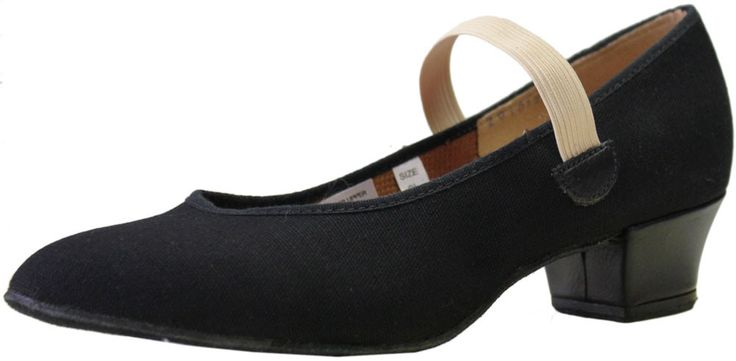 "★★★☆☆ Bloch S0314L - Karacta 1 1/4"" R.A.D. canvas character shoe for women - Cuban heel. Approved by Royal Academy of Dance. It features a canvas upper and a full suede sole. The shoe is usually used for RAD Grades 3-5 ballet. Size 6.5. $55 @ Beetles (2016)"