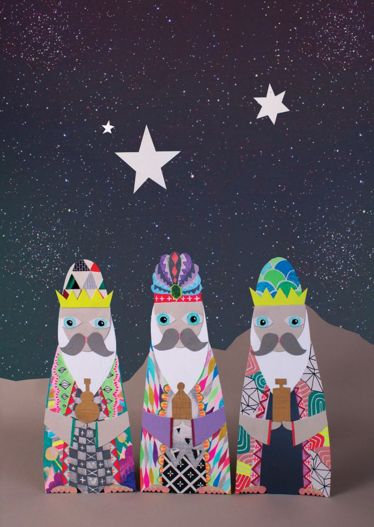 3 Kings - Christmas card illustration #illustration #drawing #illustrator