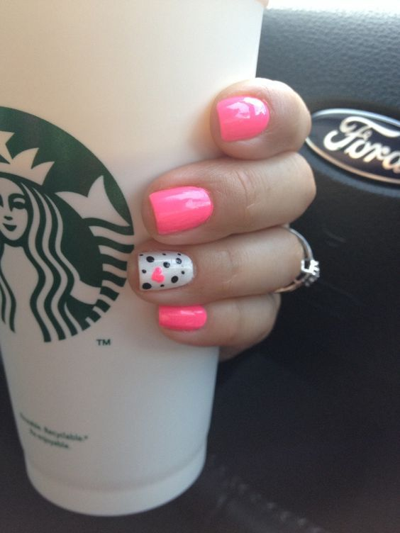 Pink | 15 Easy Valentines Day Nail Designs for Short Nails