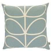 Orla Kiely - Linear Stem Duck Egg Cushion - 45x45cm