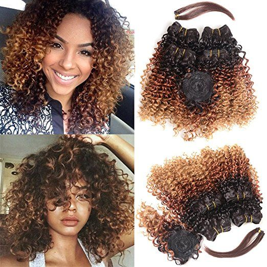 21 best curly weaves kinky human hair soft afro hair extensions extensions hair ombre bundles with closure and hair bang curlyweaves 8 10 12 14 pmusecretfo Gallery