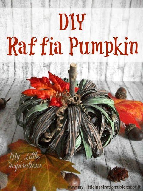 DIY Lighted Raffia Pumpkin - My Little Inspirations #handmadehalloween2016 #thecreativefactory
