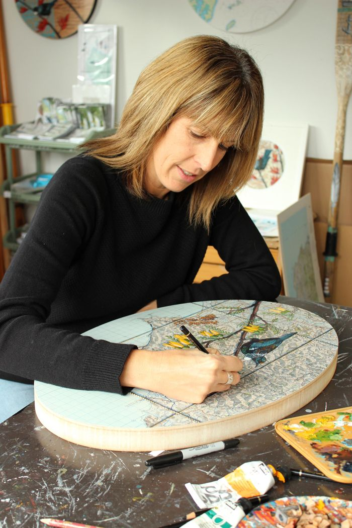 From our blog - Meet the Artists: at home and at work with NZ Artist Justine Hawksworth  http://nzartprints.co.nz/2015/07/meet-the-artists-justine-hawksworth/