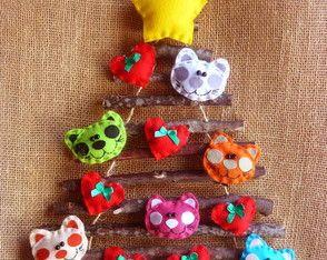 Árvore de Natal Rustica Gatinhos