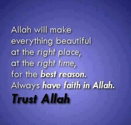 Trust Him #Allah #islamic #quotes #Trust #Faith #right # ...