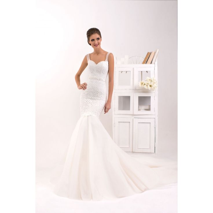 Tammy - luxusné svadobné šaty morská panna s krajkou, tylom a perličkami