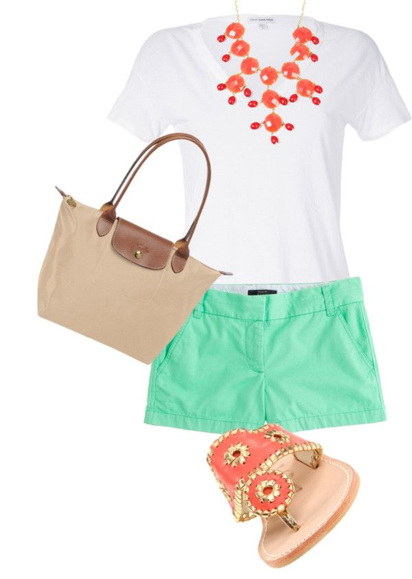 Summer time. I LOVE LOVE love SIMPLE! Safe & Simple, so naturally this outfit JUMPS out at me. I love this outfit. I'm pretty sure I could put together something very similar at The Loft and J.Crew.  -Xo