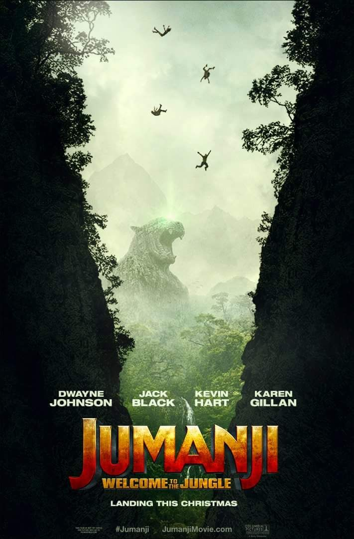 JUMANJI: WELCOME TO THE JUNGLE - In theaters December 20, 2017. The game has changed but the legend continues. - Dwayne Johnson, Jack Black, Kevin Hart, Karen Gillan, Nick Jonas, Bobby Cannavale | Sony Pictures Entertainment