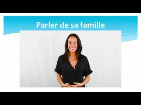 Parler de sa famille (2) - Talking about one's family (2) - YouTube