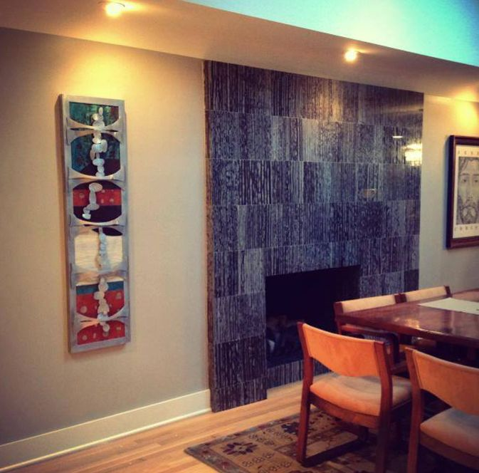 Metal Wall Art For Dining Room : Eclectic metal wall decor in renovated mid century modern