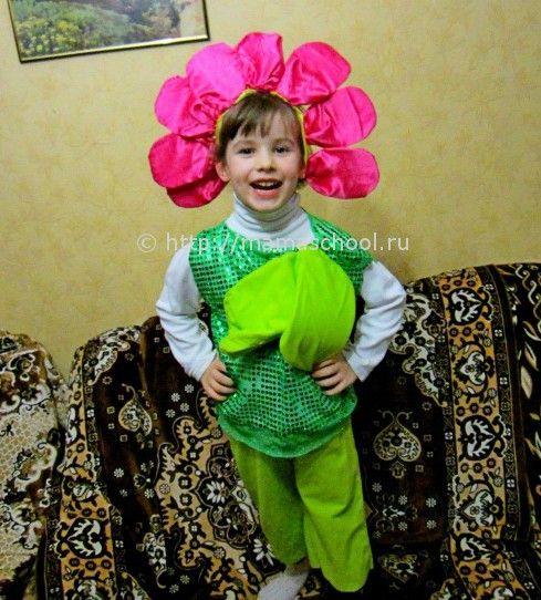 как сделать новогодний костюм цветка своими руками