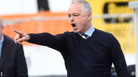 Dundee United: Raith Rovers reject approach for Ray McKinnon