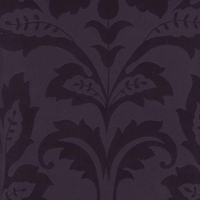 Koksgrå tapet med sorte ornamenter