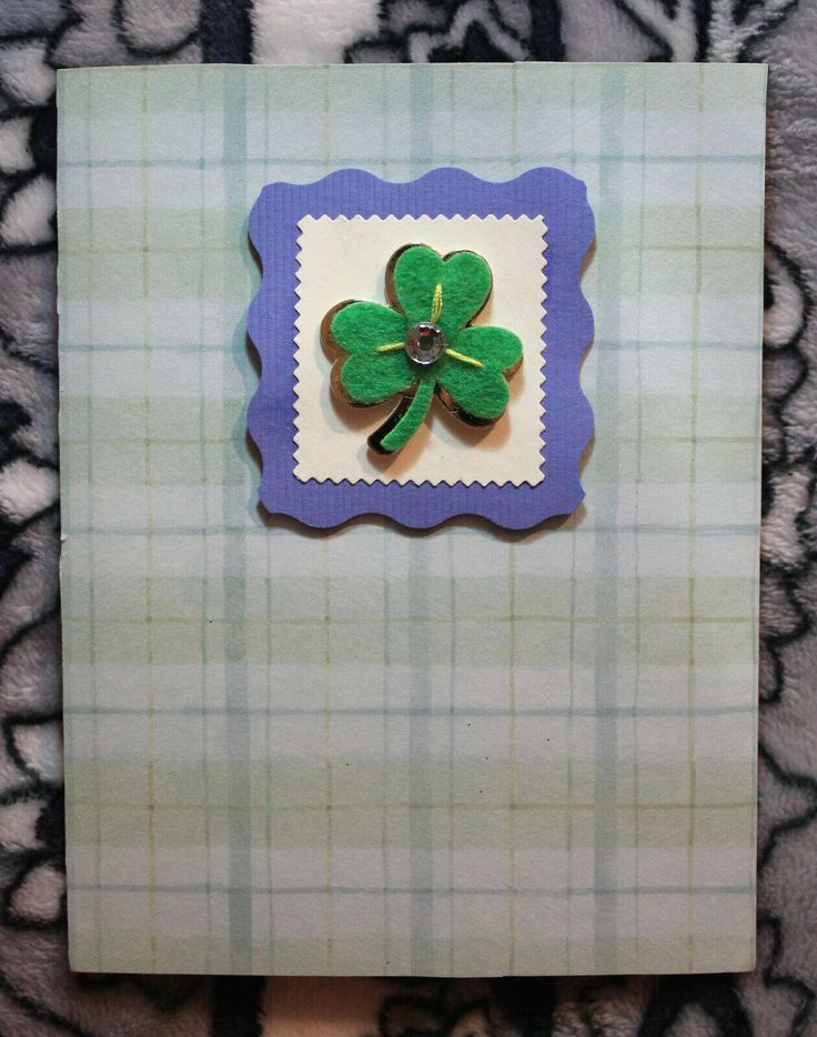 st patrick s day handmade greeting card  designszoe