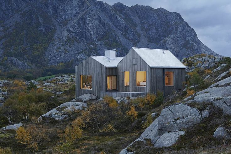 Vega Cottage:  Contemporary interpretation of  the Naust, the Norwegian traditional seaside huts--unpretentious and distinctive.
