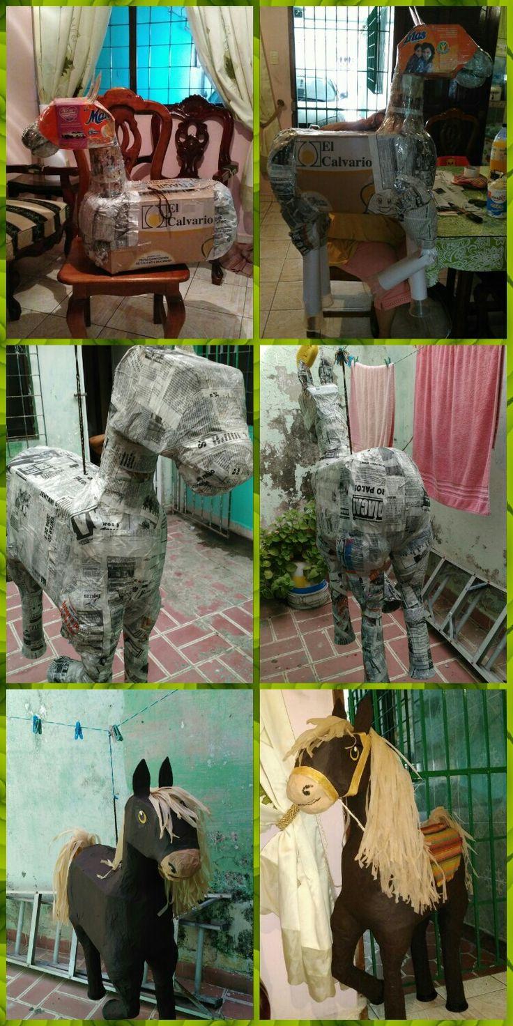 Piñata de caballo paso a paso,reciclando materiales