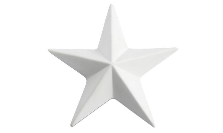 Christmas accessories - Star ornament - White - Ceramic