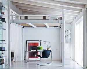 Adjustable height Sleeping Loft... PERFECT for my Studio!