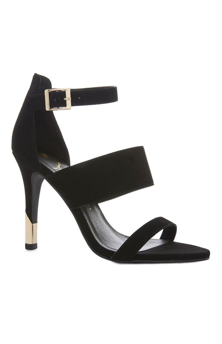 Black sandals primark - Black 3 Part Occasion Heel Sandal