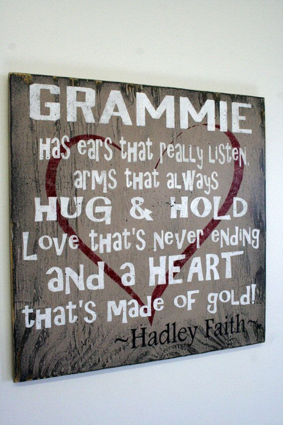 Grammie Grandma Mimi Nana Sign Personalized Sign Custom Sign Distressed Wood Shabby Chic Primitive Wood Handmade Handpainted Mothers Day