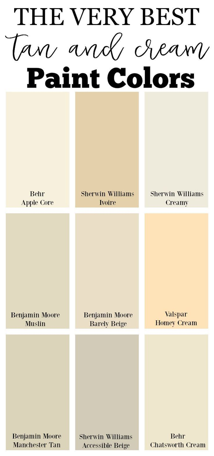 The Very Best Tan And Cream Paint Colors Paint Colors