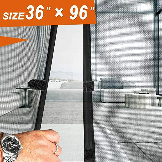 Magnetic Screen Door 36 X 96 Mosquito Patio Screens Door Mesh 36 X 96 Fit Doors Size Up To 34 W Magnetic Screen Door Diy Screen Door French Doors With Screens