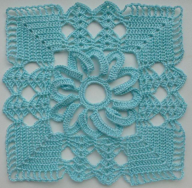 Lacy square motif.