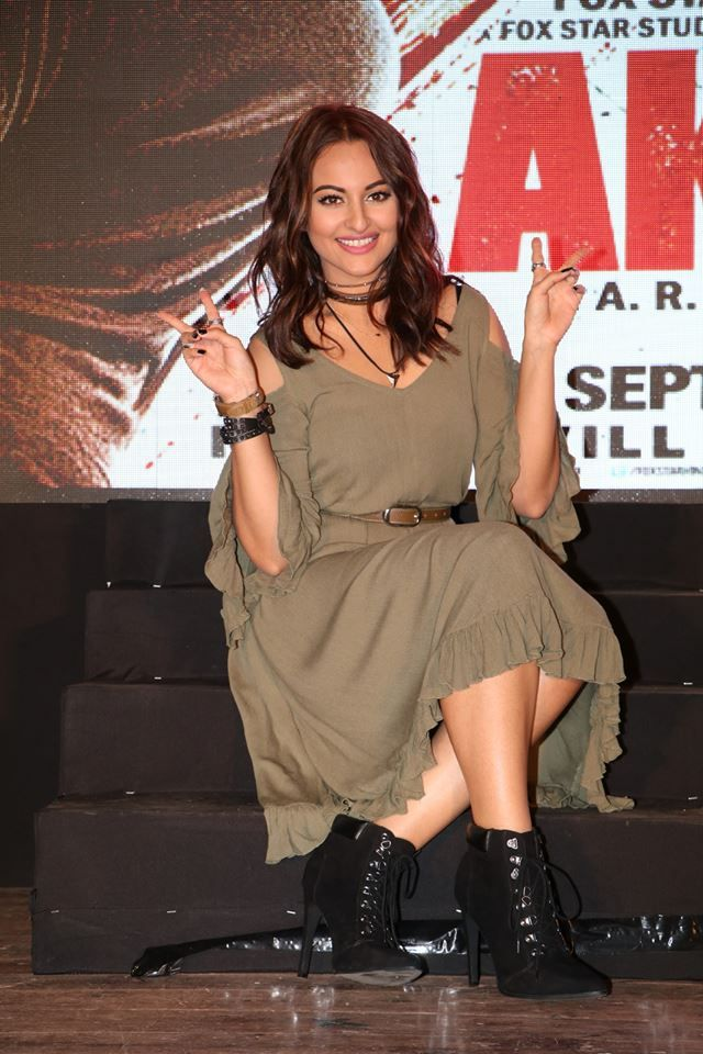 Sonakshi Sinha Looks Awesome At The Trailer Launch Of Her Upcoming Film