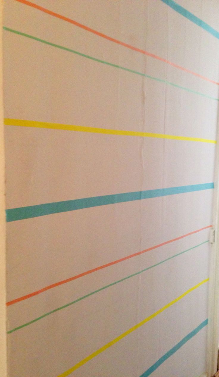 Washi stripe wall