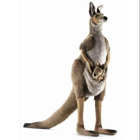 Life Size Mama & Joey Kangaroo Plush Stuffed Animal