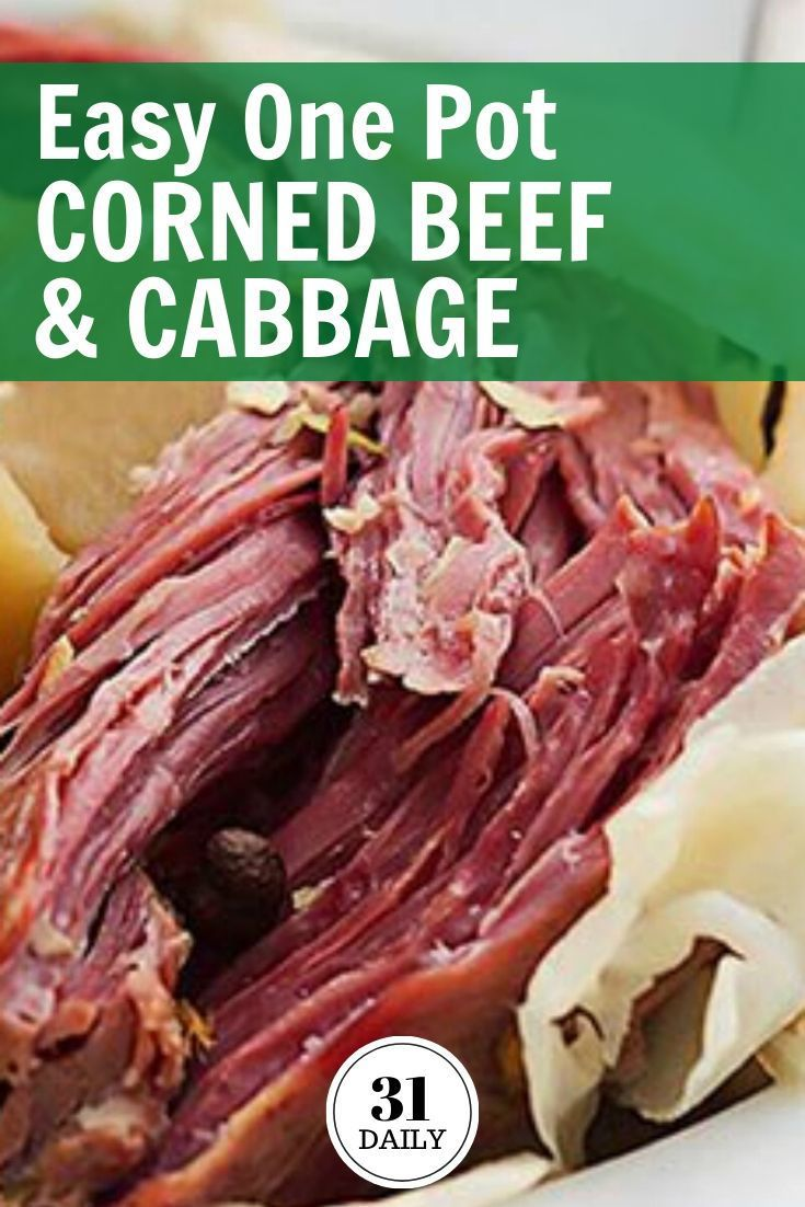 Easy One Pot Corned Beef And Cabbage Recipe In 2020 Beef Easy Dinner Recipes Corned Beef