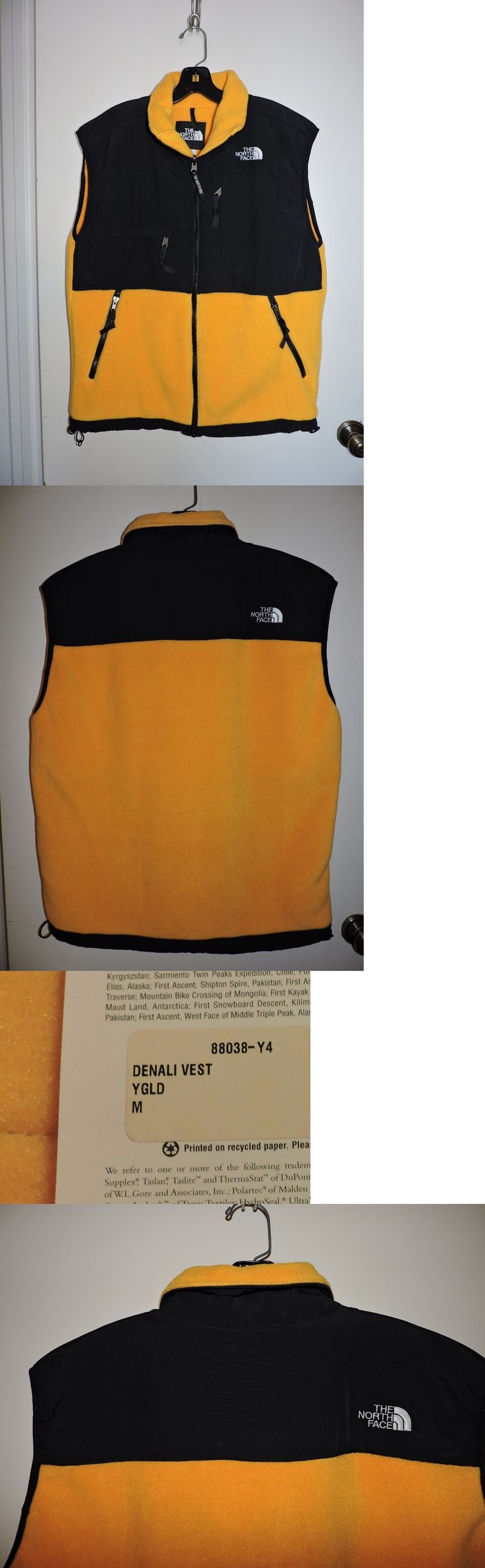 Vests 179012: Mens Medium The North Face Denali Fleece Vest New With Tags Yellow Gold -> BUY IT NOW ONLY: $69.99 on eBay!