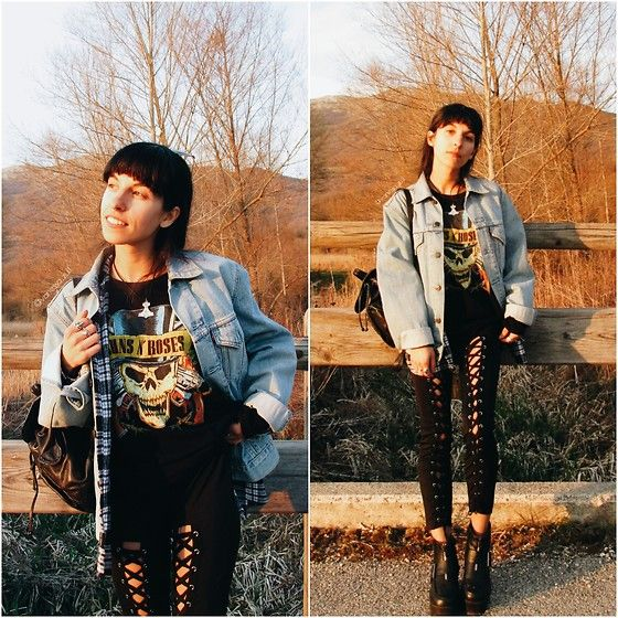Get this look: http://lb.nu/look/8661141  More looks by Vanessa Rossi: http://lb.nu/vanex  Items in this look:  Chic Me Leggings, Levi's Denim Jacket