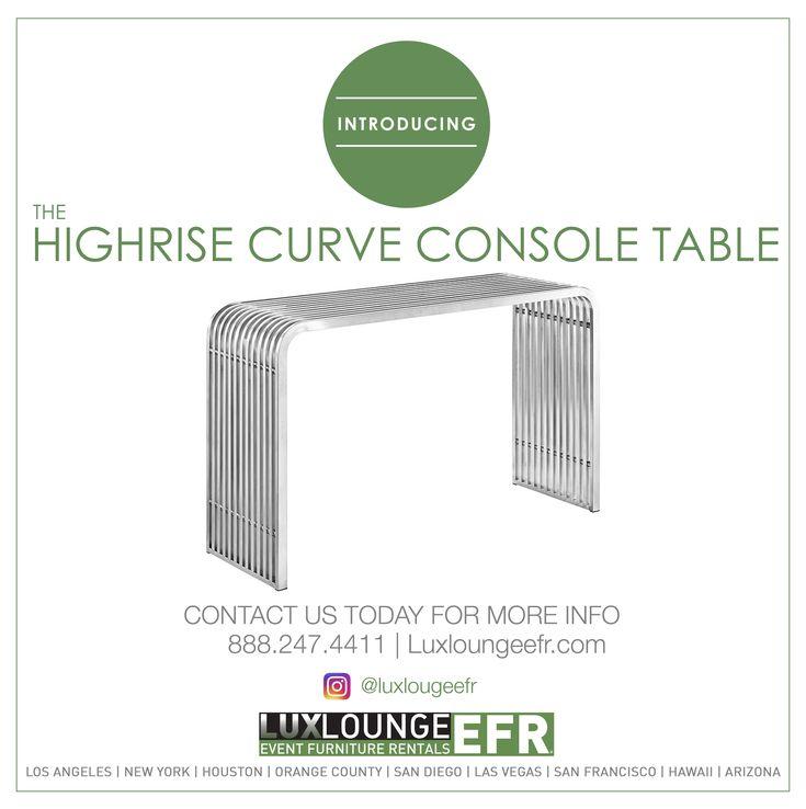 HIGHRISE CURVE CONSOLE TABLE #FURNITURE #DESIGN #LUXURY #RENTAL  #DECORATION #LUXLOUNGREEFR #WWWELDACHAIR