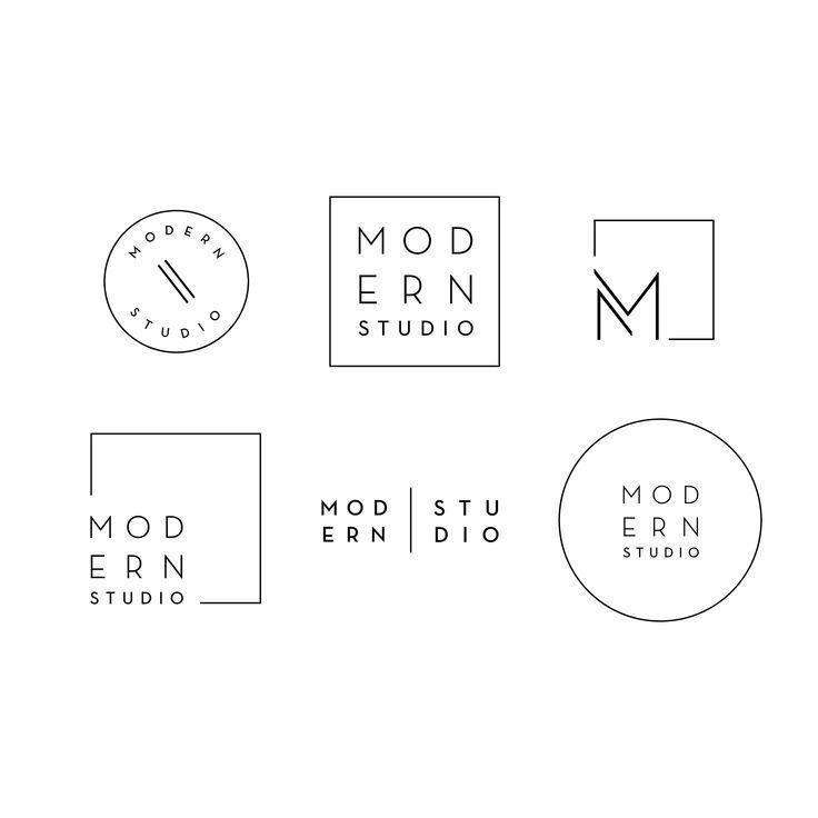 modern studio contemporary branding design brand logo graphic minimal clean eleg…