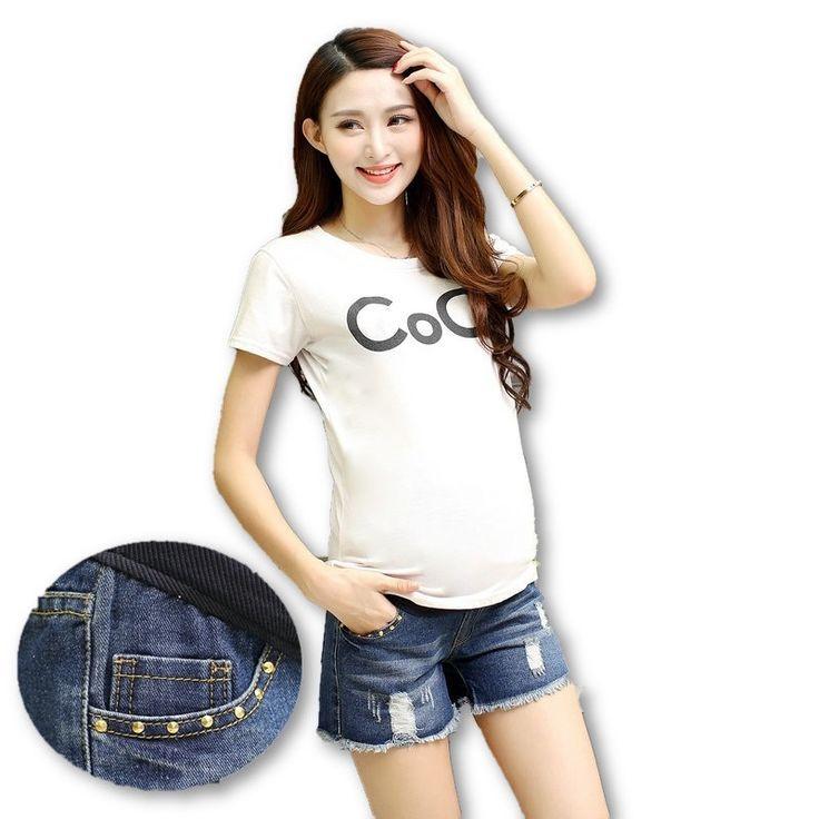 Women's Denim Maternity Shorts (M-Plus sizes)  #shopnow #pregnancy #motherhood #maternityclothing #summer #gorgeous #socute #fashion #babybump #momtobe