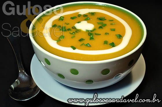 Como as sopas creme são sempre bem recebidas aqui no blog hoje temos a deliciosa receita saudável de Sopa Creme de Abóbora e Cenoura, é leve e super ...
