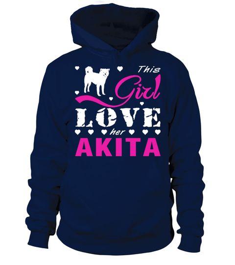 # This girl love her Akita .  This girl love her Akita