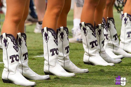 White Tcu Showgirl Boots Classic Tcu Pinterest