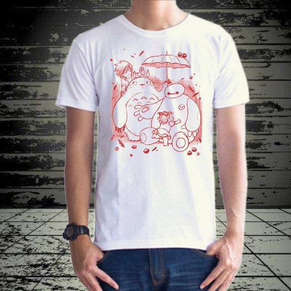 Baymax and Totoro design for tshirt by klikcklukc on Etsy