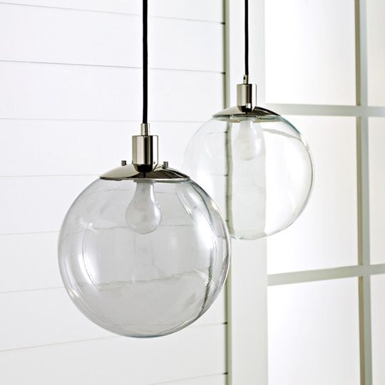 Love these retro lamps.  A similar more milky and white version hangs in my dad's bedroom.: Pendants, Lighting, Glasses, Globes, Pendant Lights, Light Fixture, West Elm