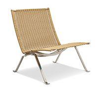 288 € - Chaise Longue PK22 - Style Poul Kjaerholm - Rotin pas cher