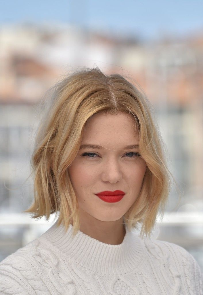 Lea Seydoux B.o.B - Lea Seydoux looked cute with her mussed-up, center-parted bob at the Cannes photocall for 'It's Only the End of the World.'