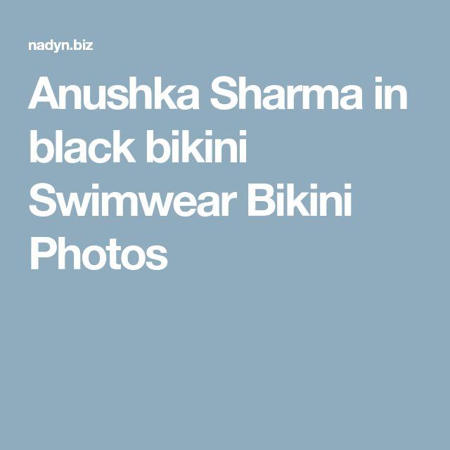 Anushka Sharma in black bikini Swimwear Bikini Photos