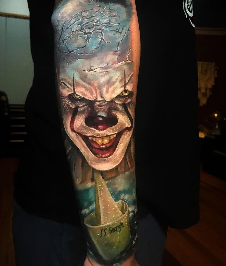 Pennywise clown by Damon Tattoos